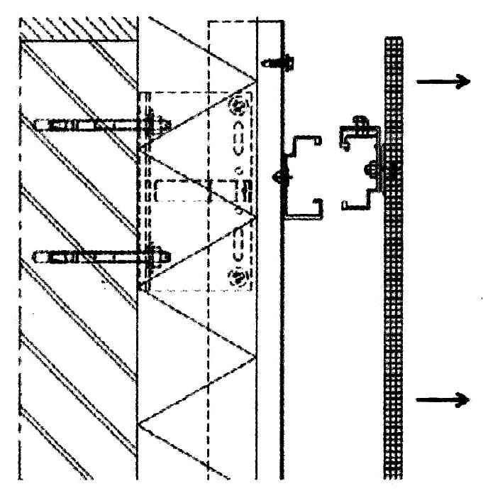 Schematischer Aufbau Fassade 03